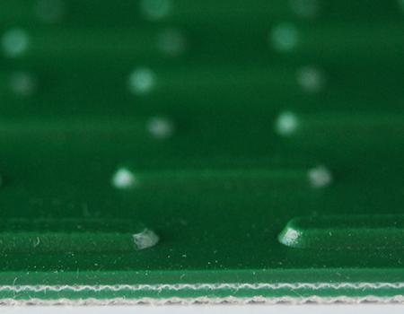 Capsule Stud Green PVC Conveyor Belt 5.0mm